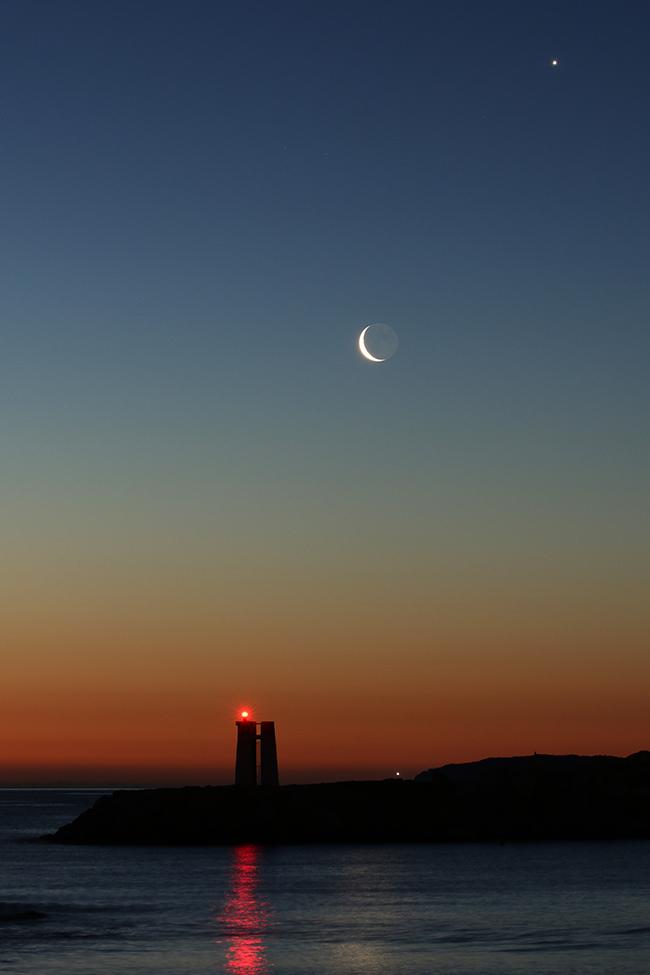 la lune le 03/03/2019, avec Vénus... (60364)