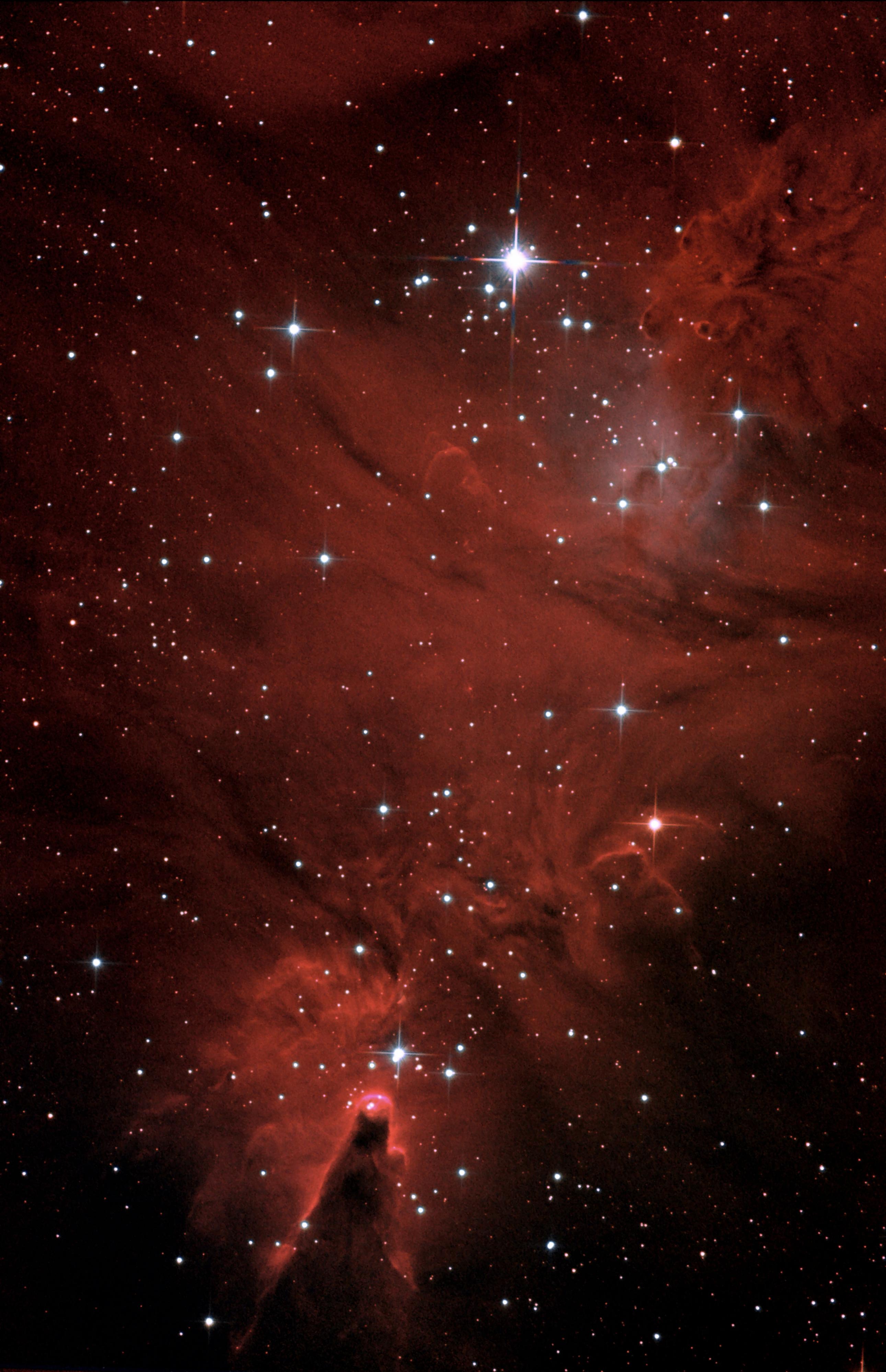 NGC2264_ nébuleuse du Cône + amas