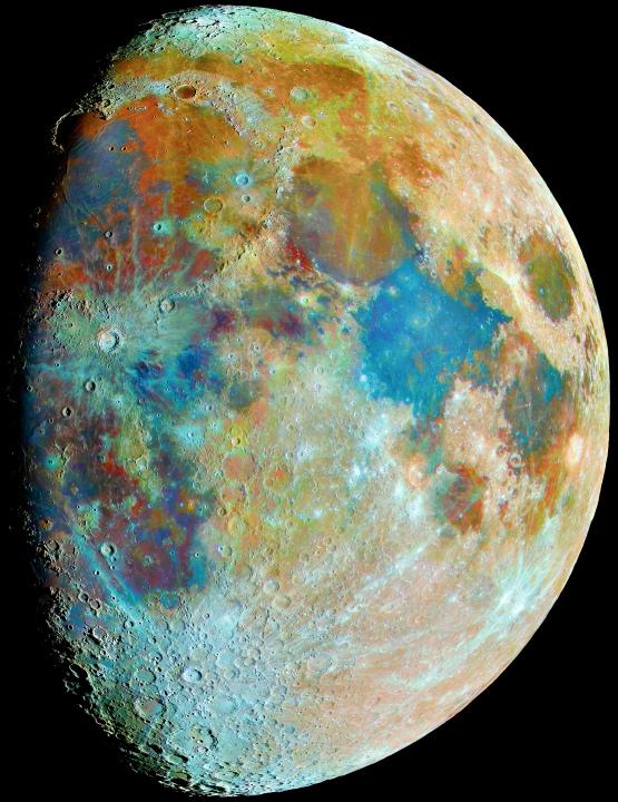 Mosaique Lune couleur