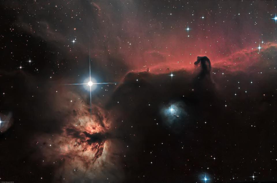 Nébuleuses de la Tête de Cheval (IC 434) et de la Flamme (NGC 2024)