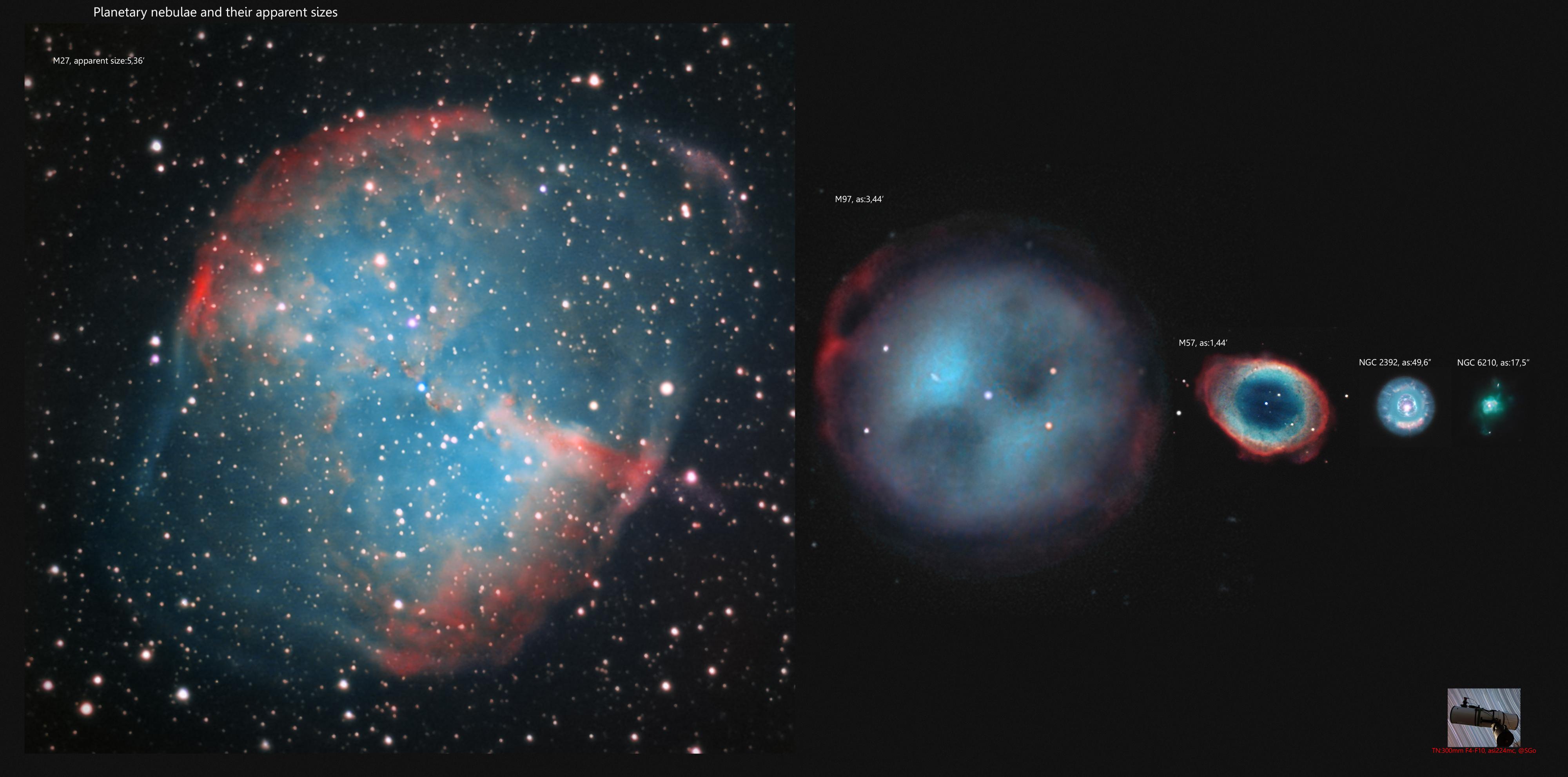 un comparatif avec d'autres nebuleuse planetaires