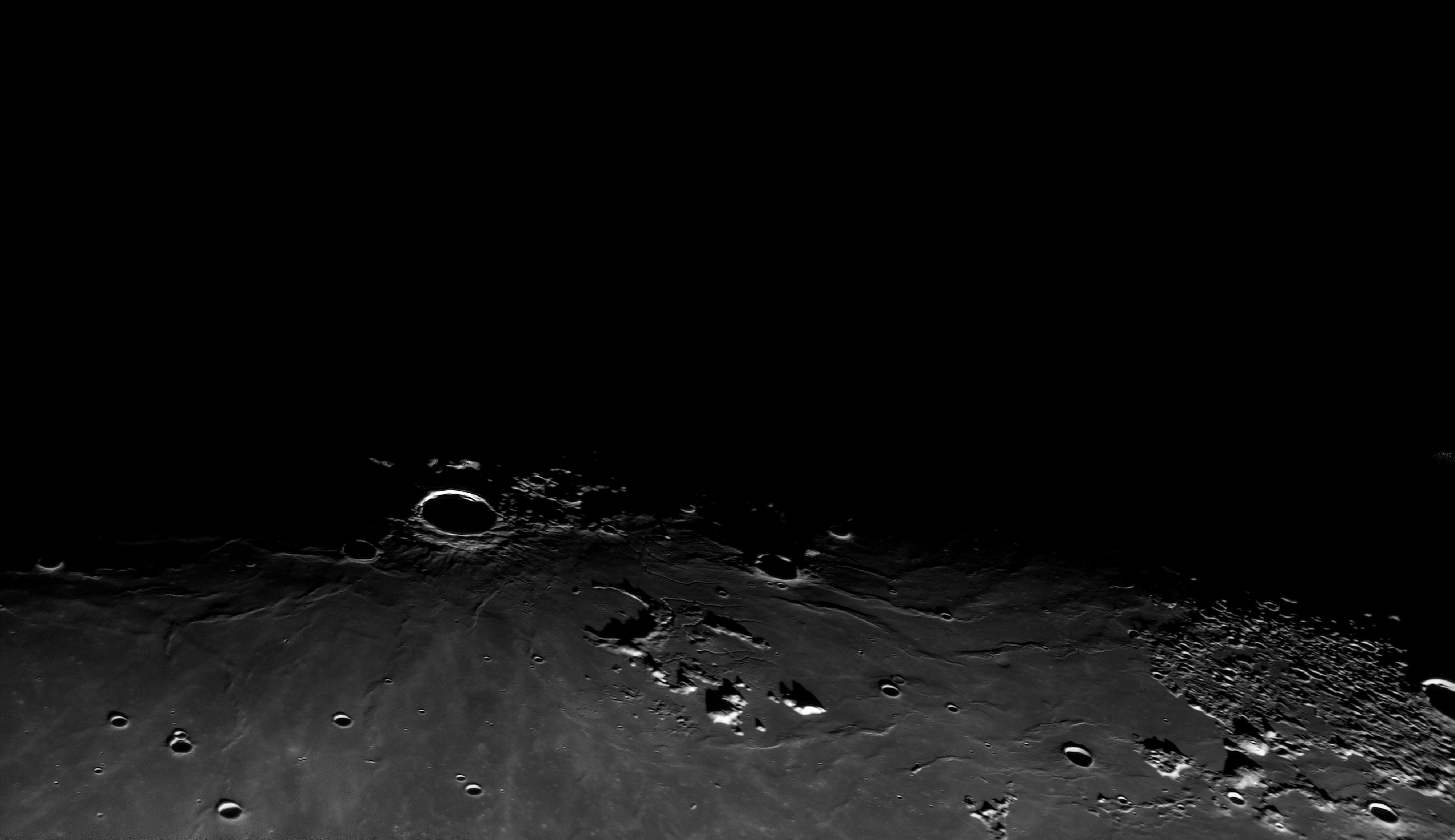 Lever de Soleil sur Aristarque