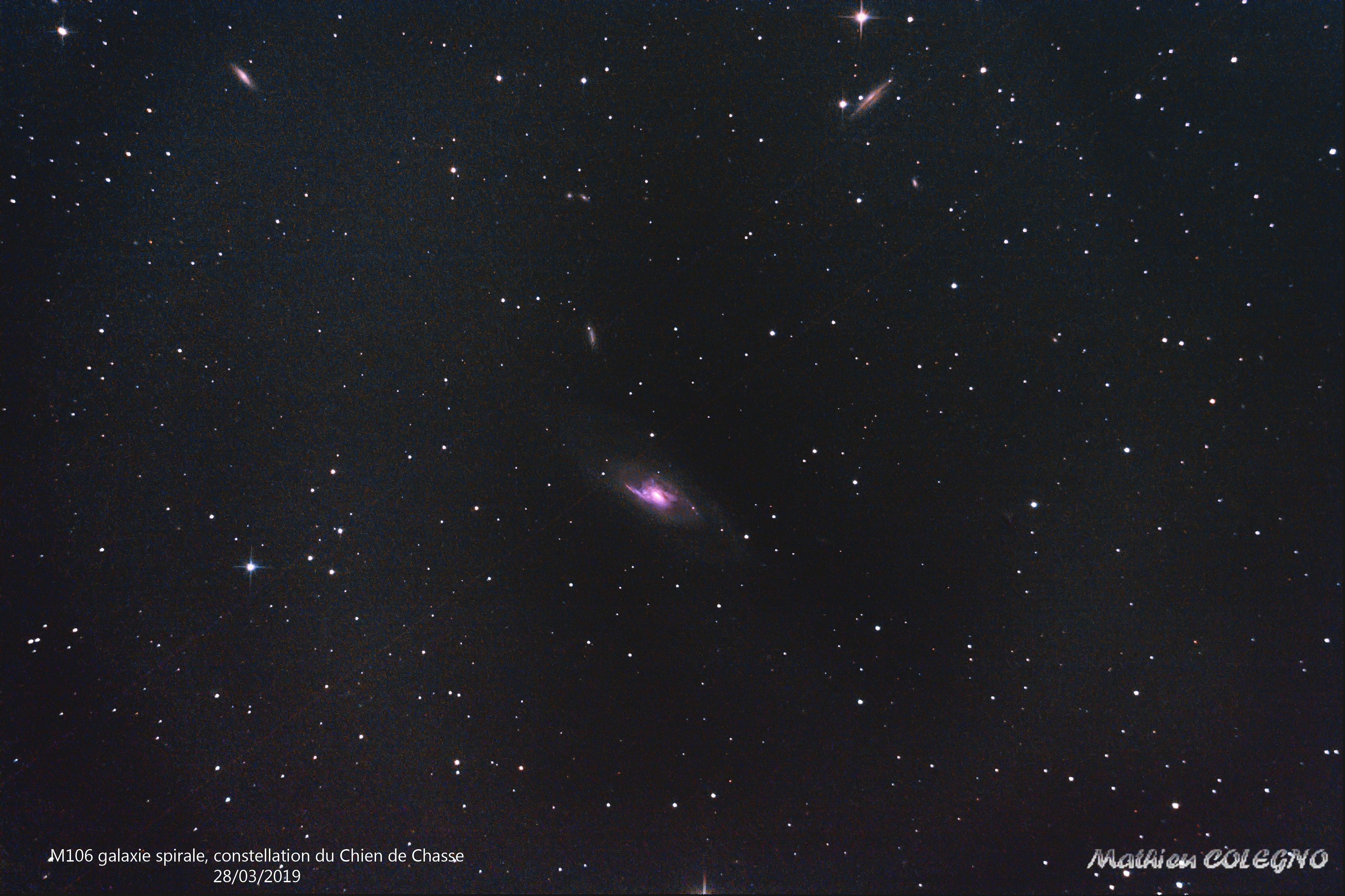 M106 - Galaxie spirale