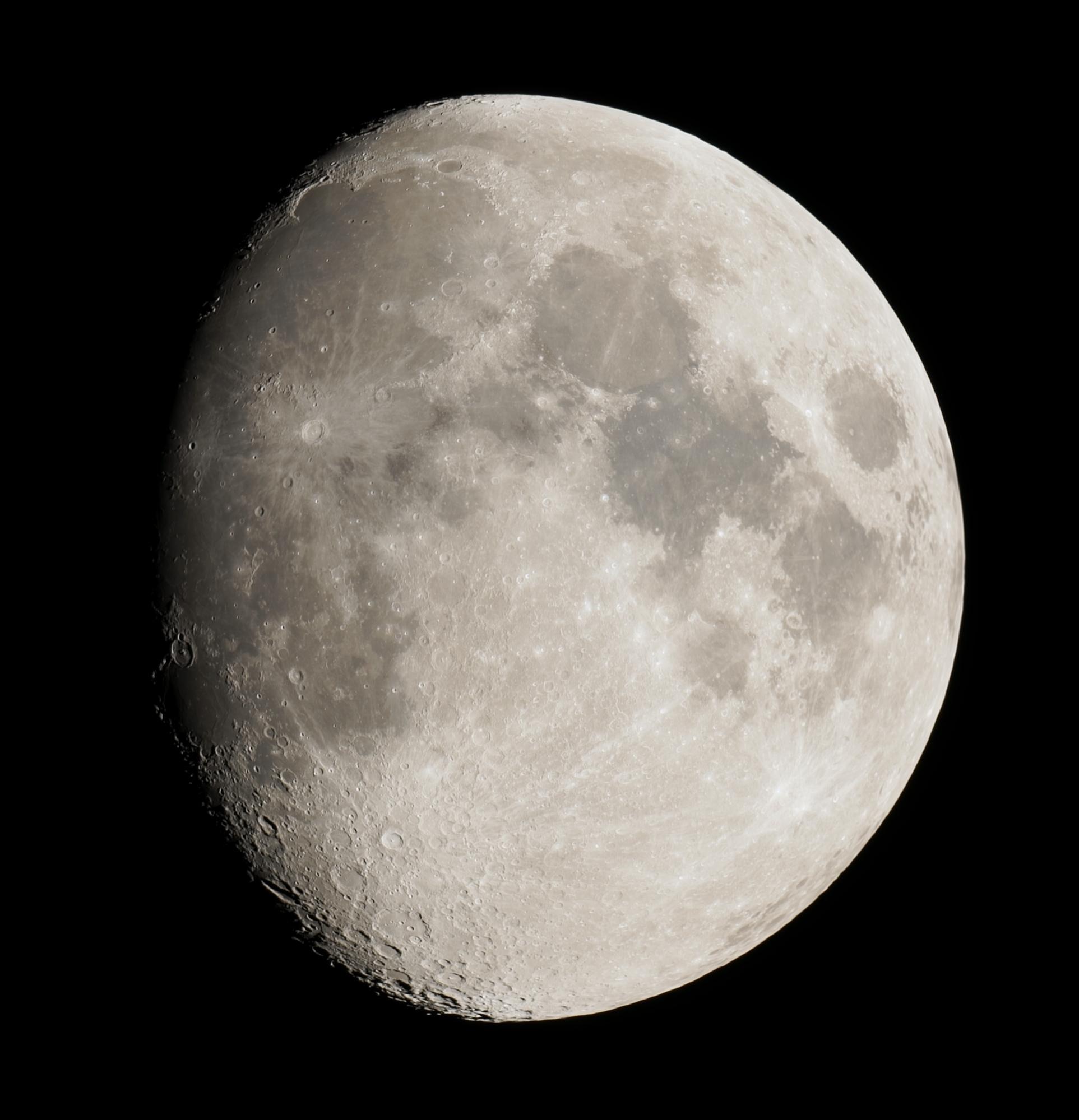 Lune gibbeuse au C8 et Sony A7s(140619, taille100%)
