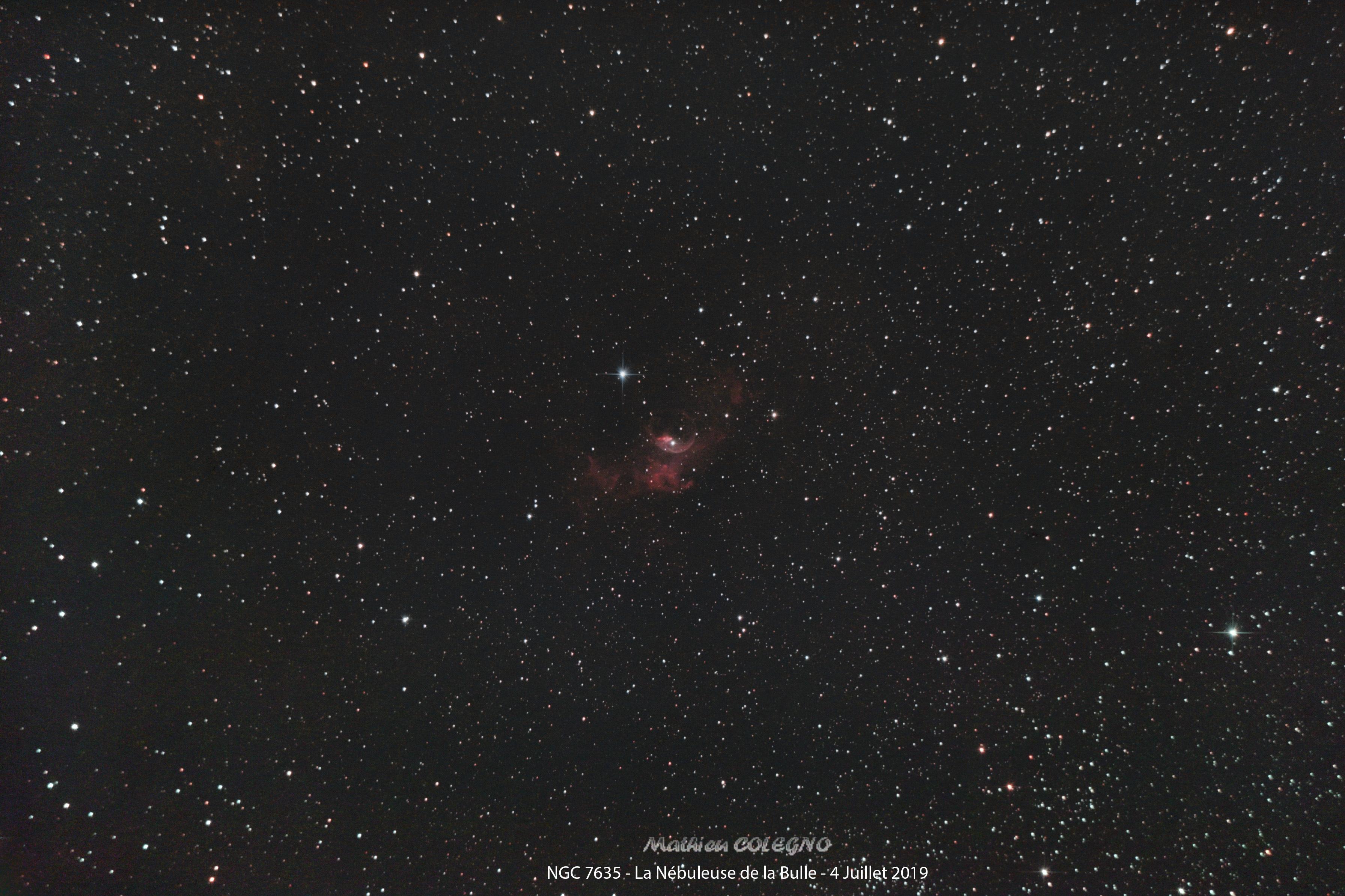 NGC7635 Nébuleuse de la Bulle