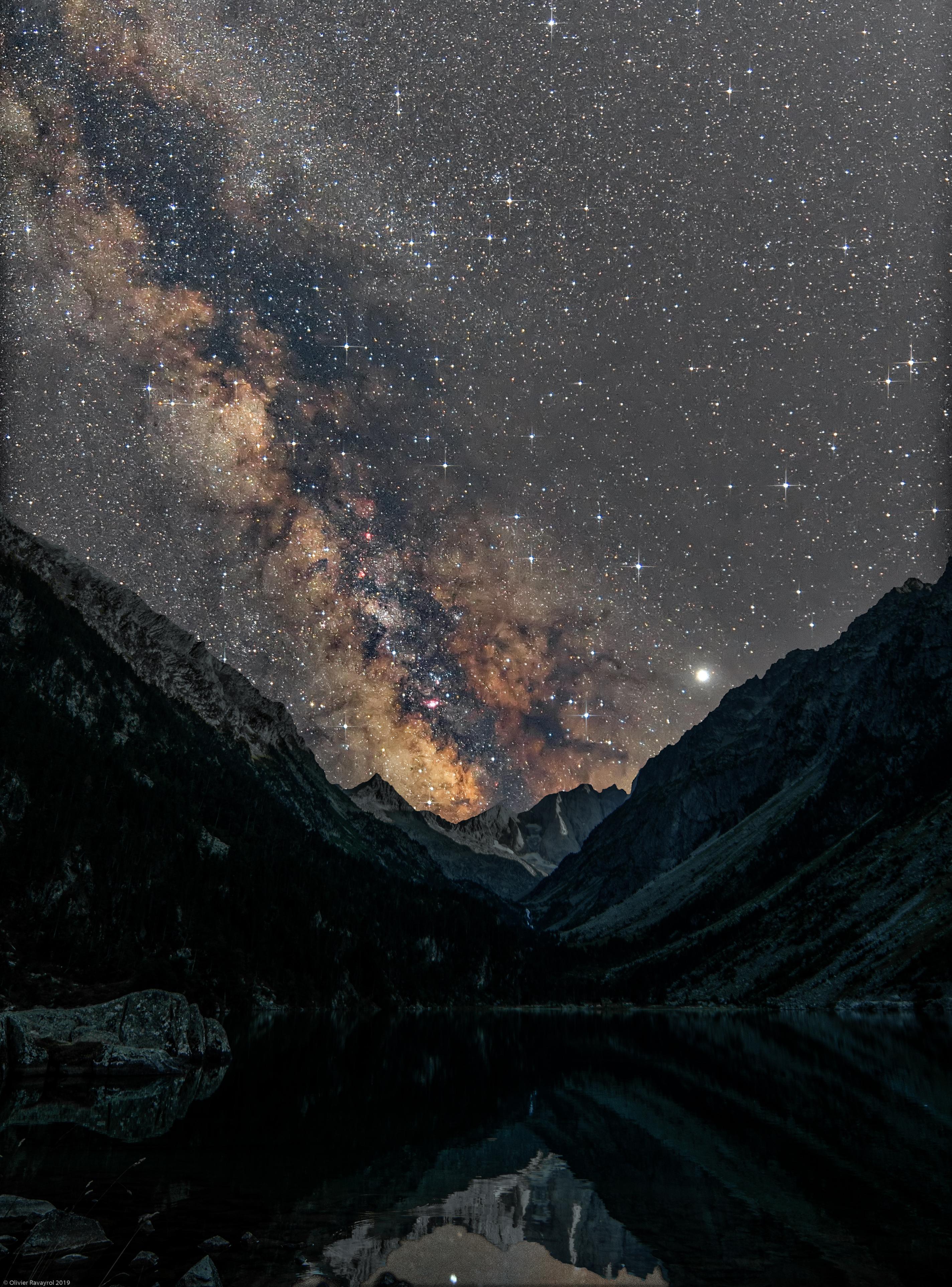 Voie Lactée au Lac de Gaube (Pyrénées)