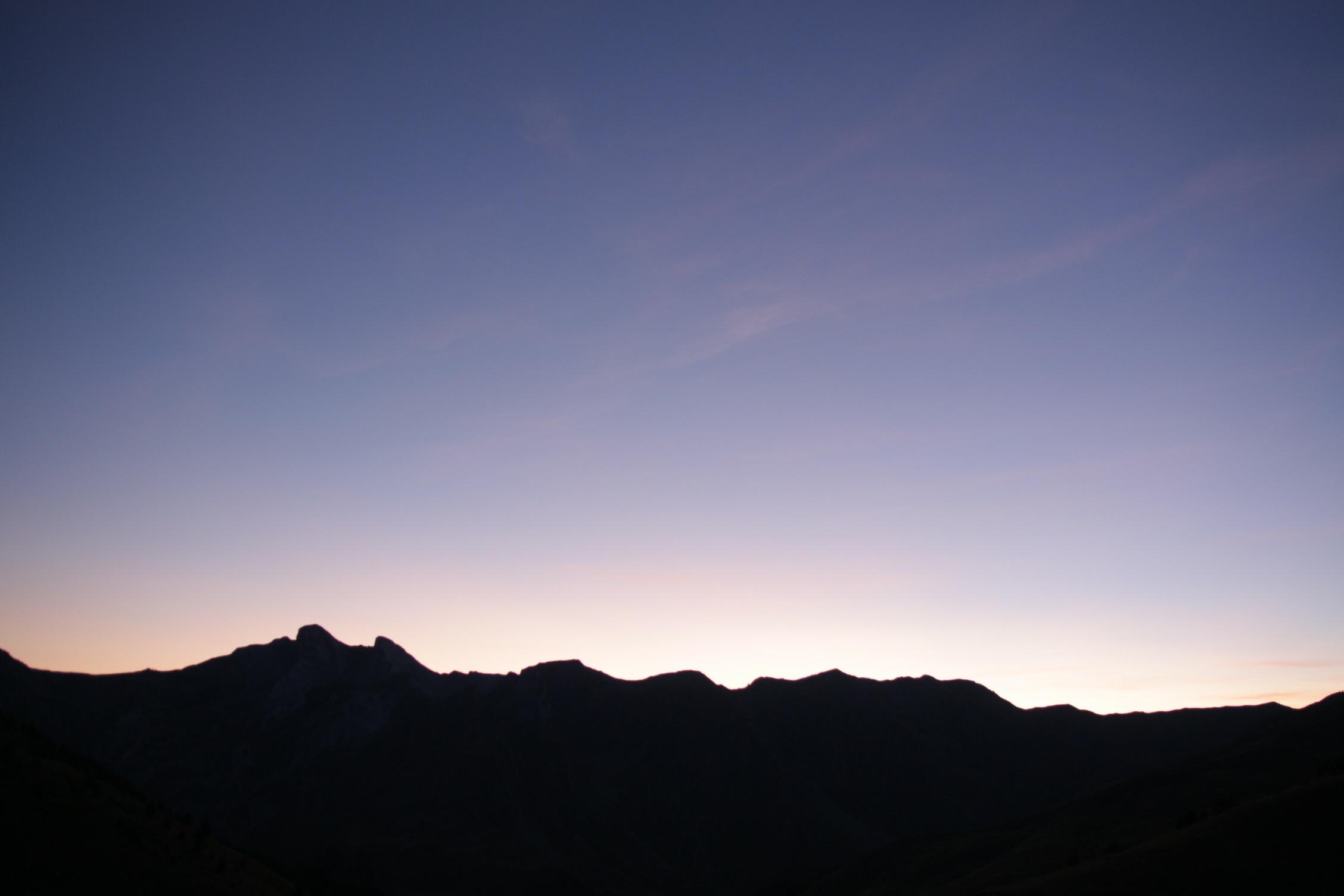 Couché du Soleil col d'Allos 2250M