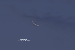 Croissant de Lune ce mercredi matin 18 août 2019
