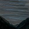 Traînées d'étoilesau lac de Gaube (Pyrénées, France)