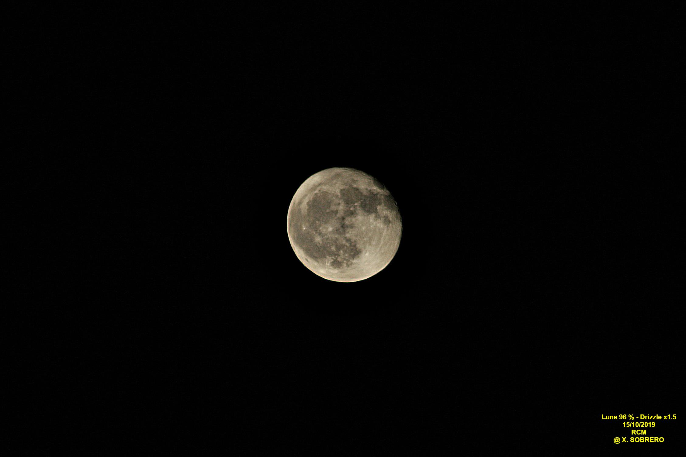 Lune du 15/10/2019 (96%)