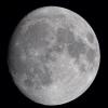 La lune du 9 Décembre à la FC76 Takahashi et Nikon D810 sur trépied photo, 27 poses à 200 iso