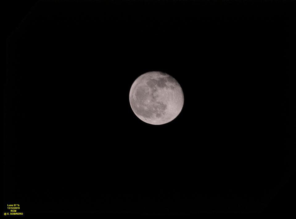 Lune à 97 % du 13/12/2019