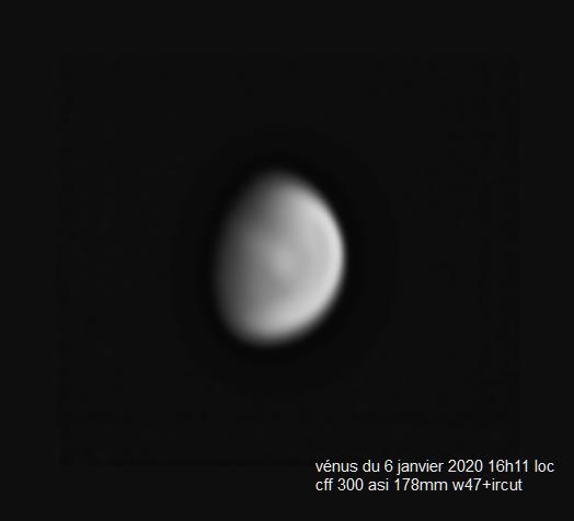 vénus du 6 janvier 2020 16h11loc