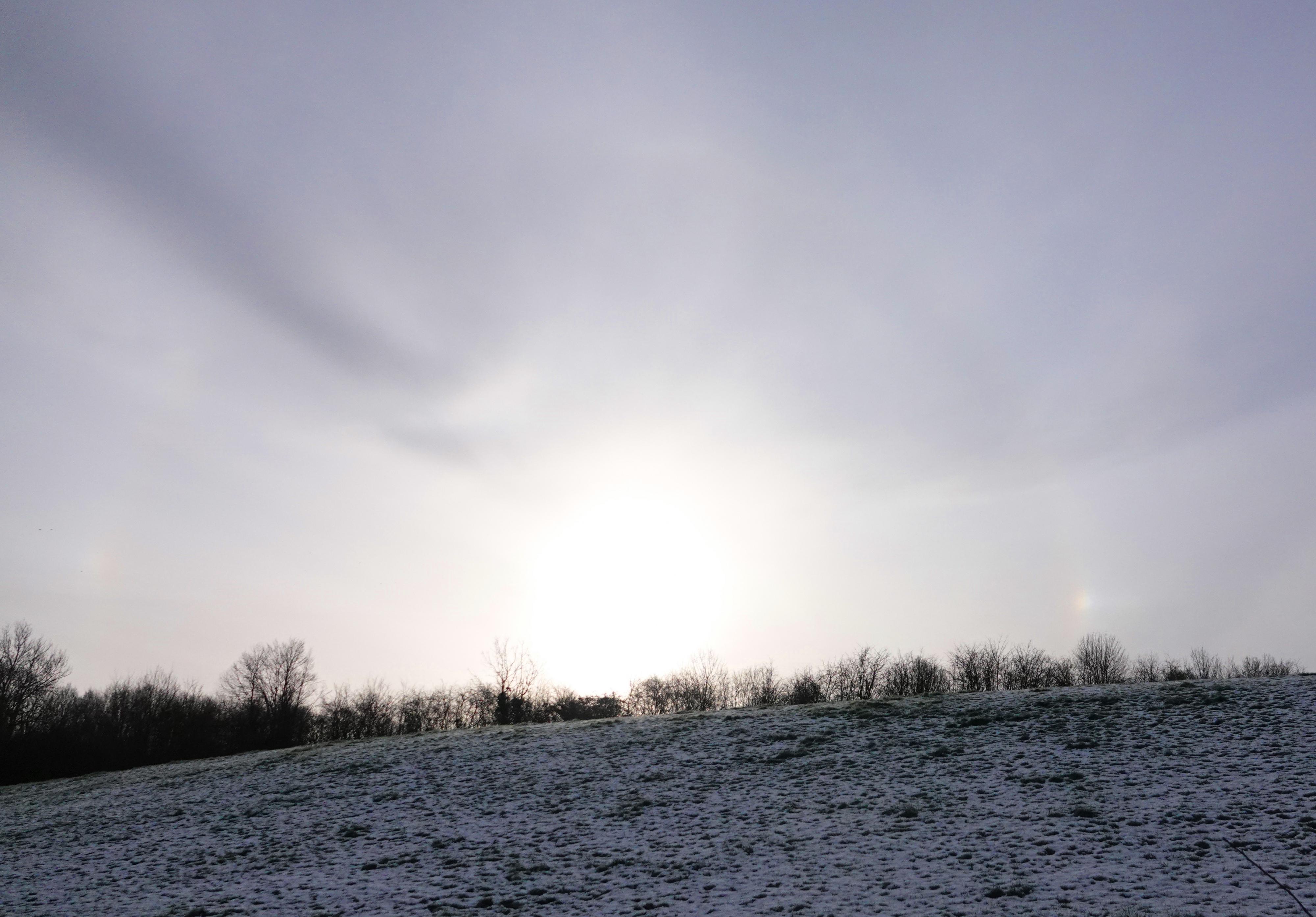 halo solaire et parhélies du 28 février 2020