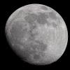La lune du 6 Février 2020 à la lunette de 76mm et Nikon D810, sur trépied photo
