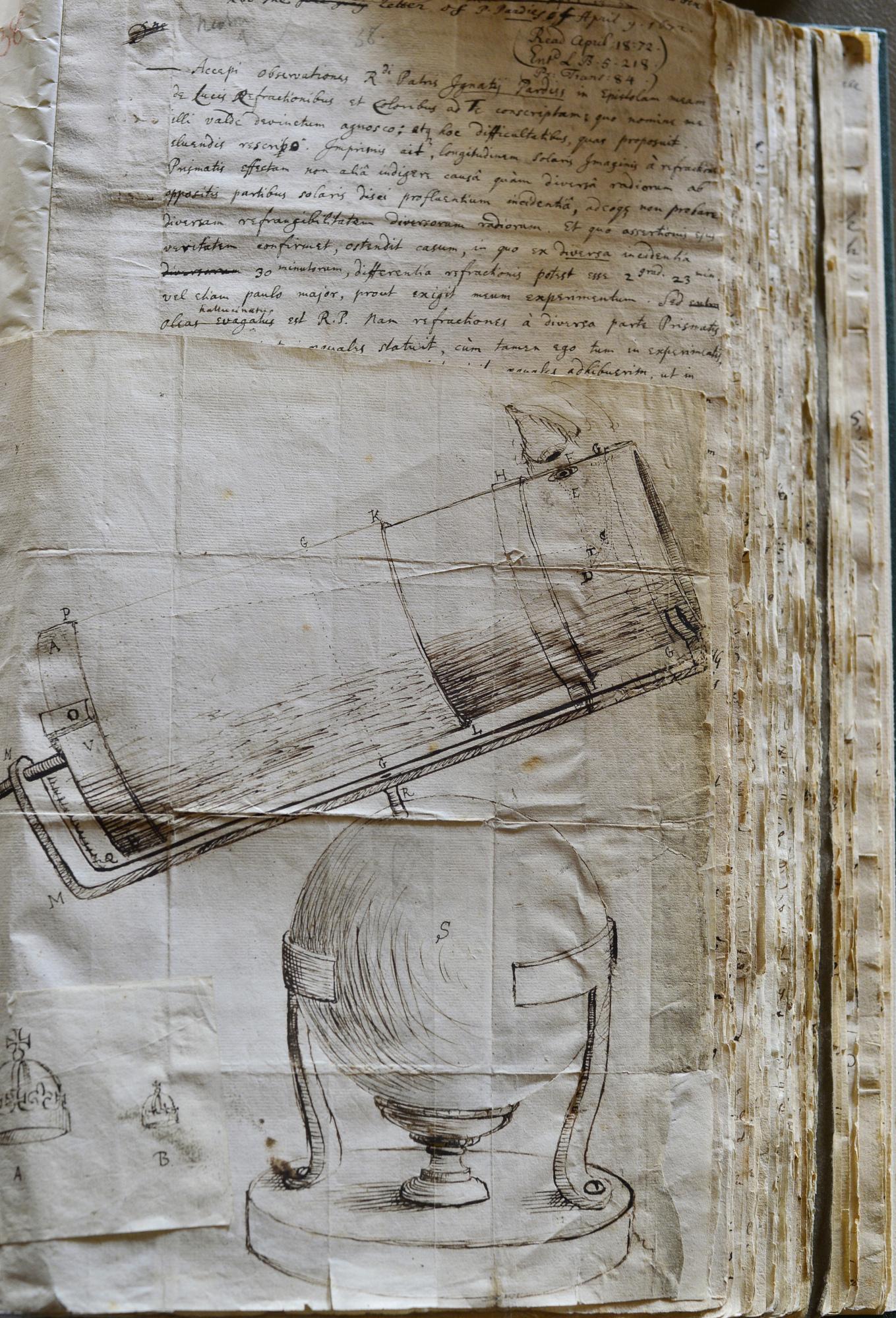Principia et télescope Newton S.Brunier.jpg