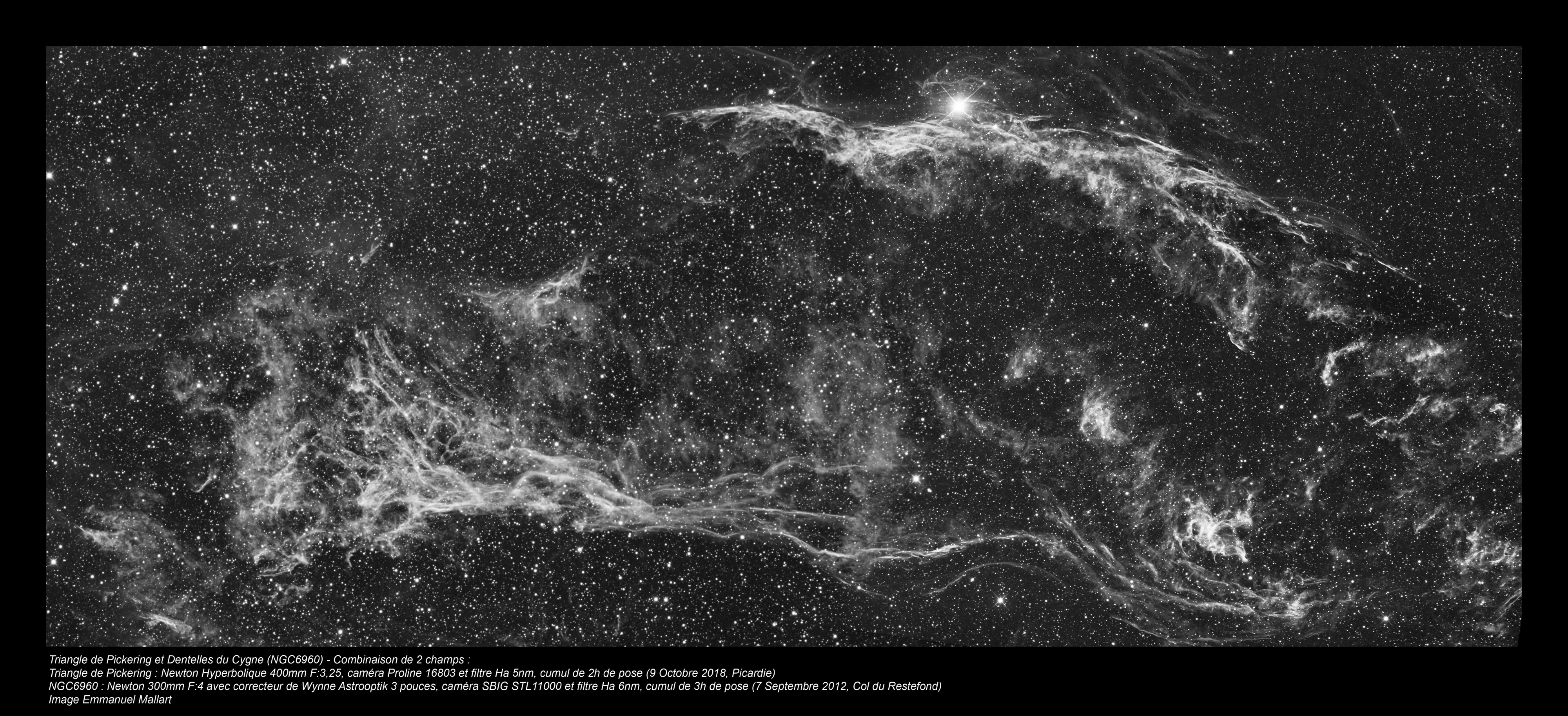Pickering et NGC6960 avec deux instruments