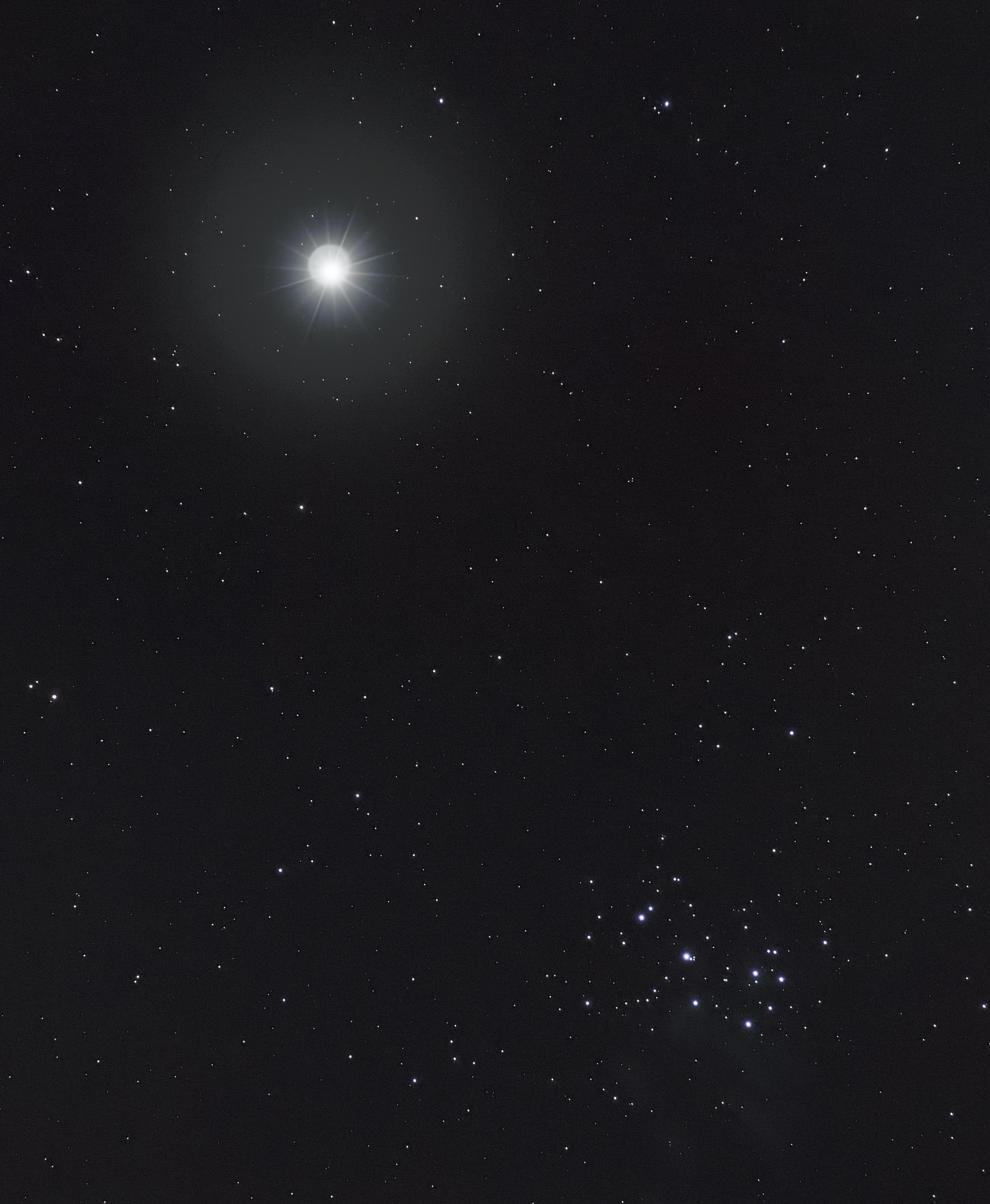 Venus et M45