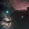 Nébuleuses de la Tête de Cheval (IC 434) et de la Flamme (NGC 2024) - Ha-SHO