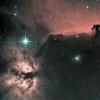 Horsehead nebula (IC434) & Flame nebula (NGC 2024) - Ha-HOO