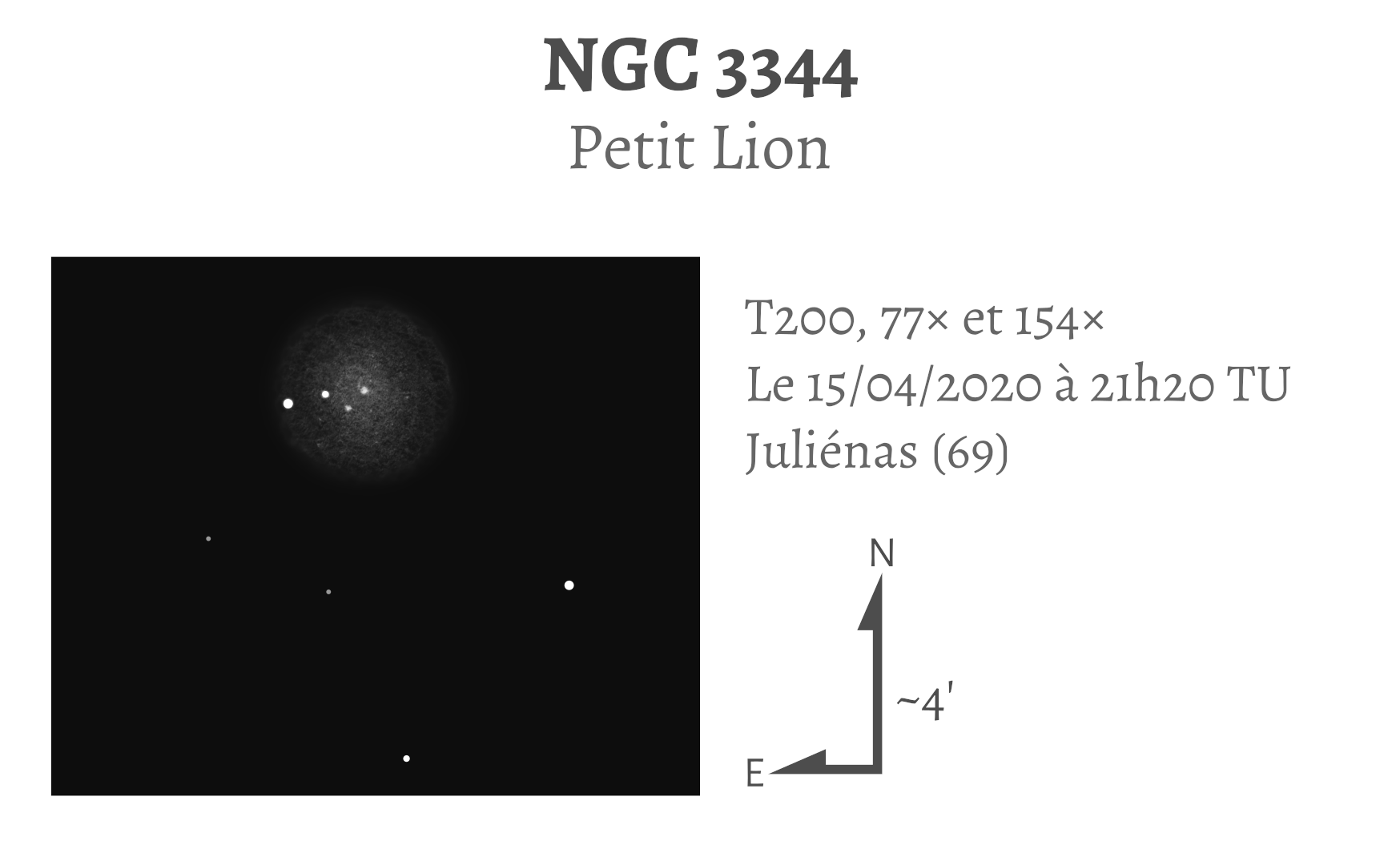 NGC 3344 au T200