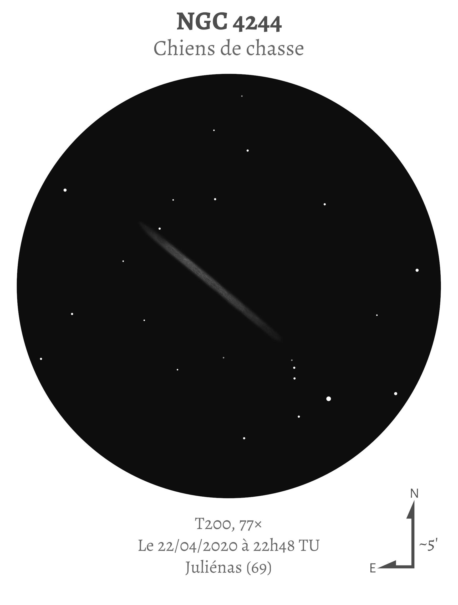 NGC 4244 au T200