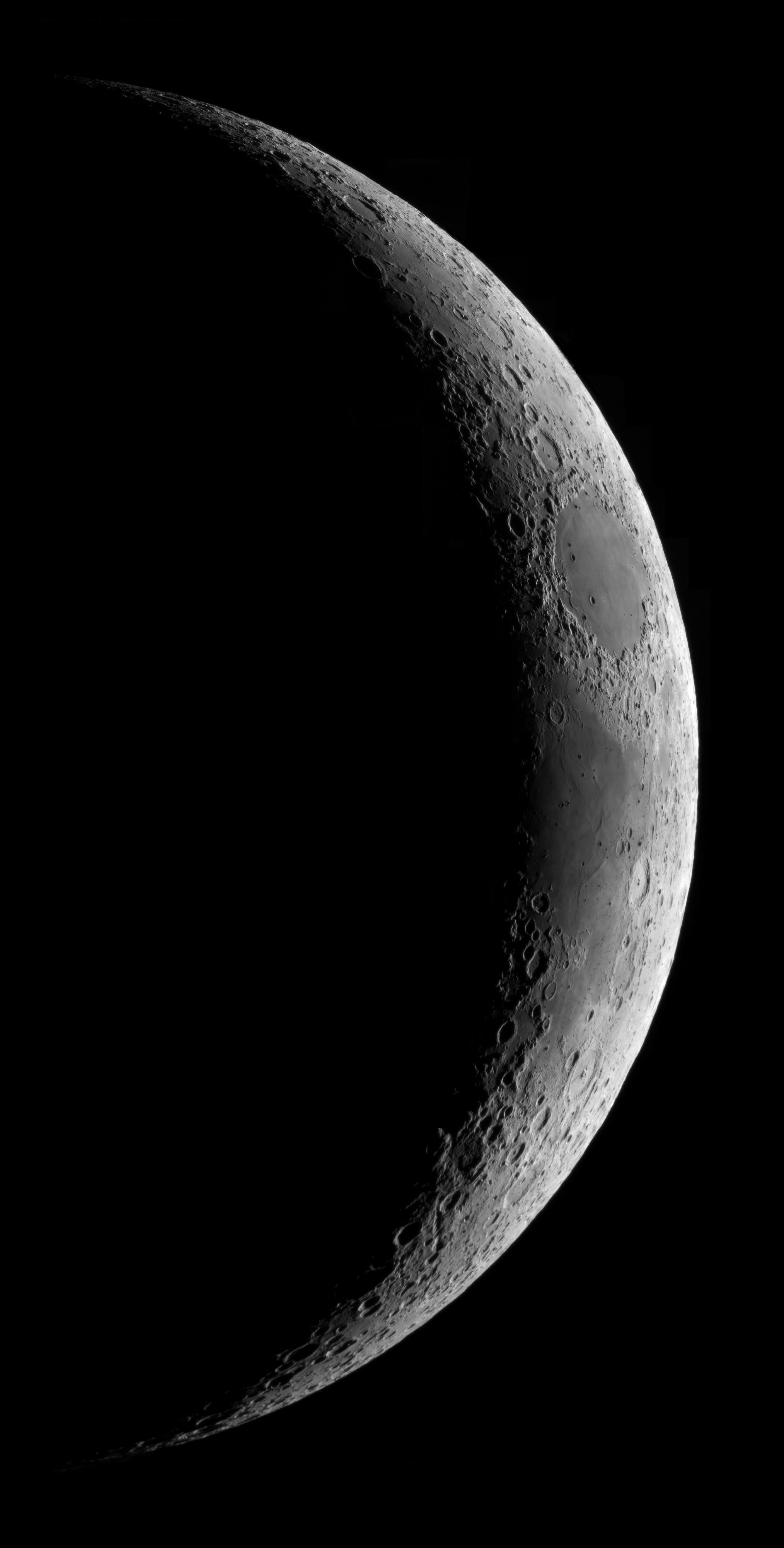 Croissant de lune du 260420( C8 + Powermate 2x + ASI120MC)