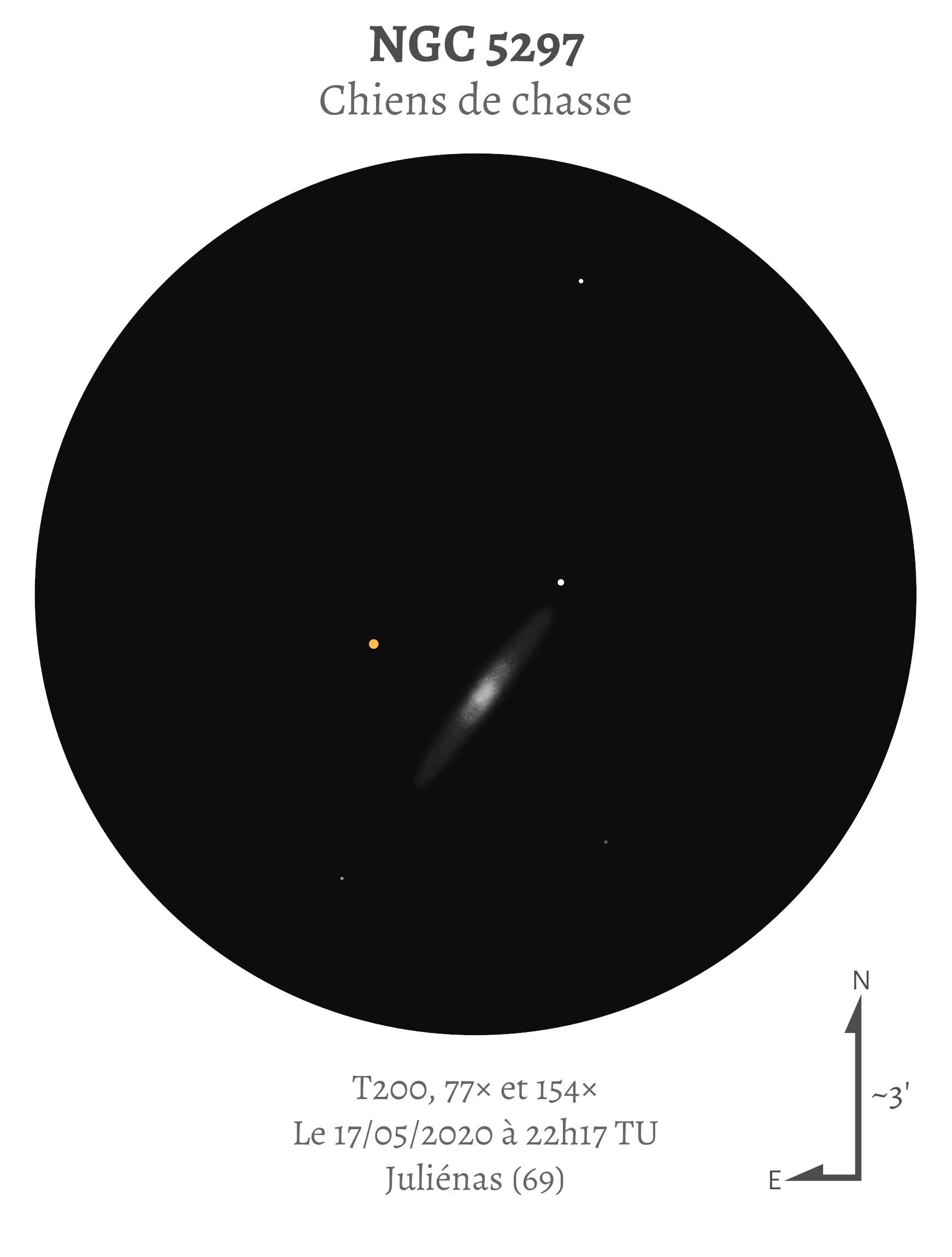 NGC 5297 au T200