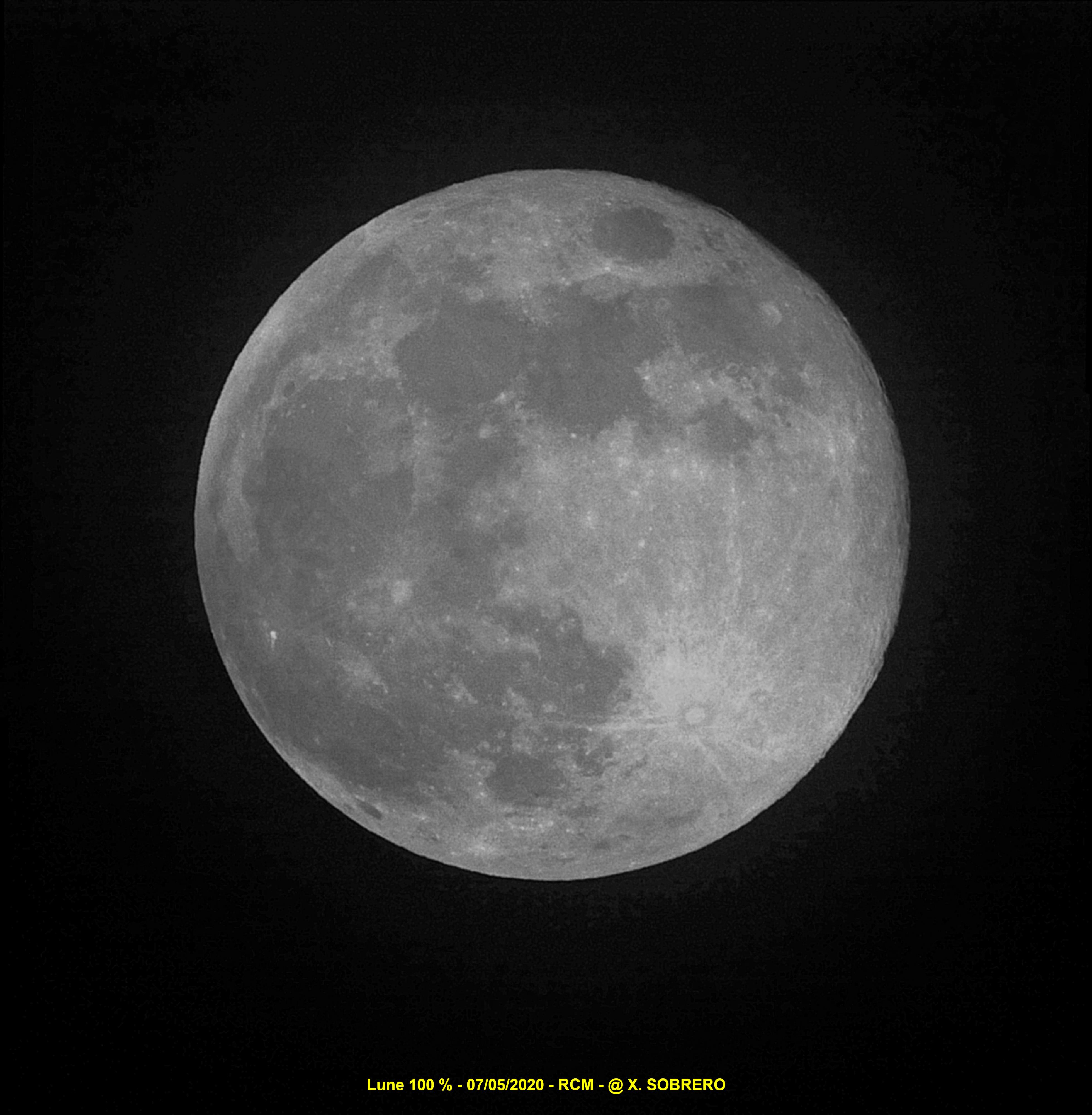 Lune 100 % du 07/05/2020