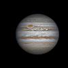 Jupiter   en  RGB  filtres  ,  le  10/12/2013  .