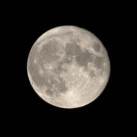 Lune lors du rapprochement avec Jupiter et Saturne