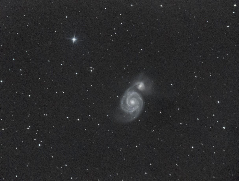 M51 alias Whirlpool ou le Moulinet avec un dobson GoTo