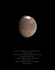 Mars au C14 du 13 Juillet 2020 en L RVB