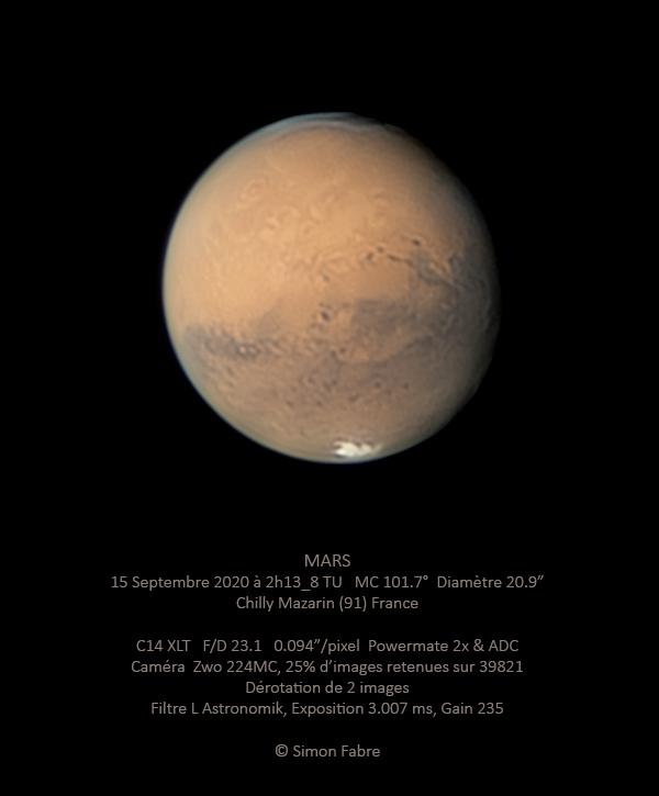 Mars du 15 Septembre 2020 au C14