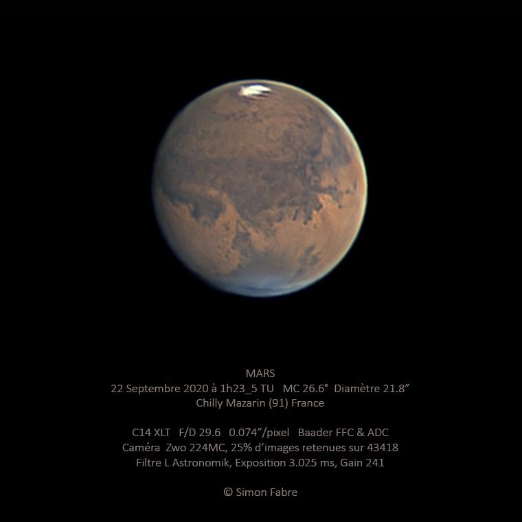 Mars le 22 Septembre 2020 au C14