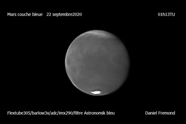 Mars nuit du21 au 22 Couche Bleue