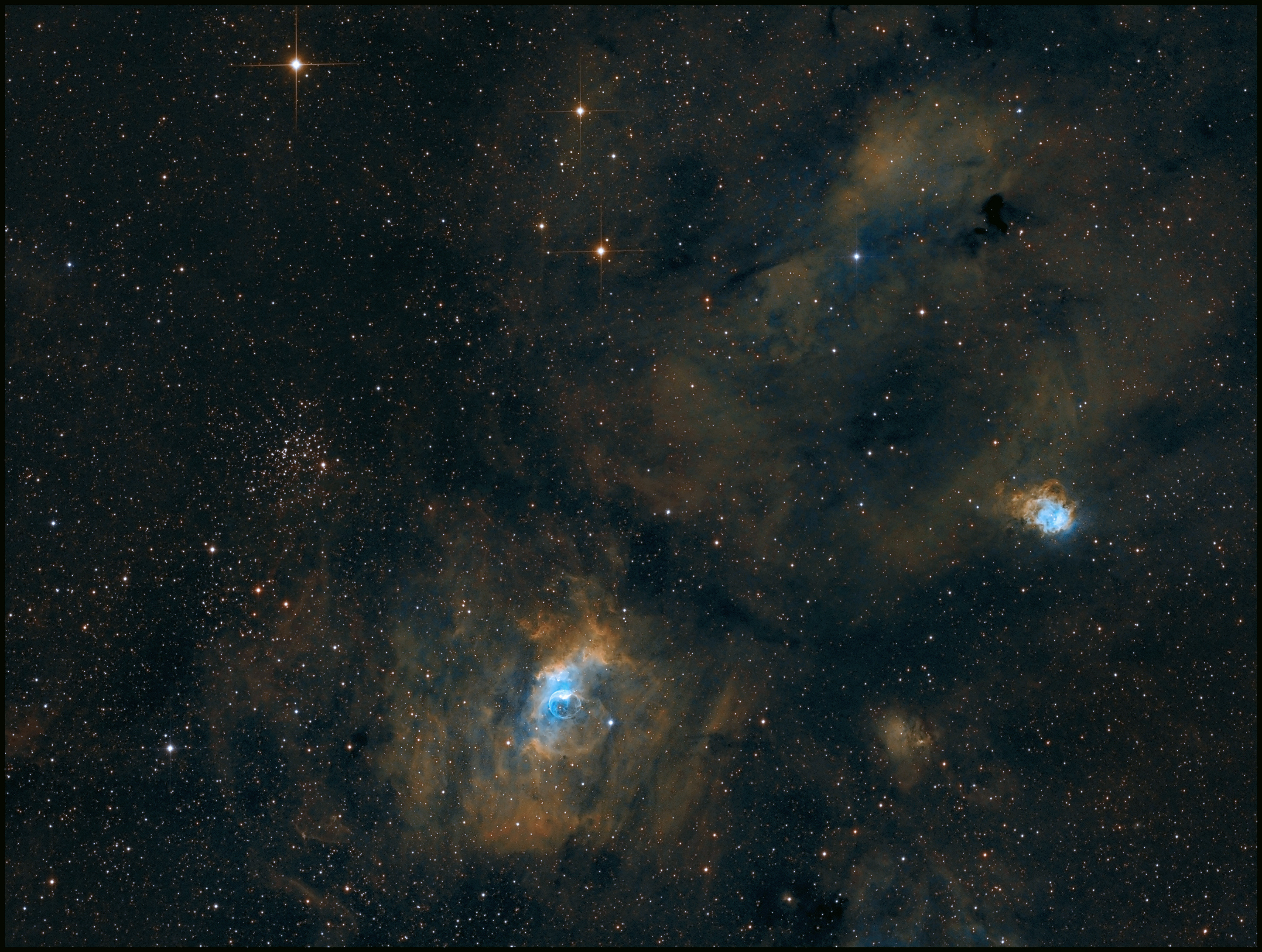 4Cas-M52/NGC7635/SH2-161/NGC7538-SHO