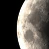 Lune : 1ere image stackée