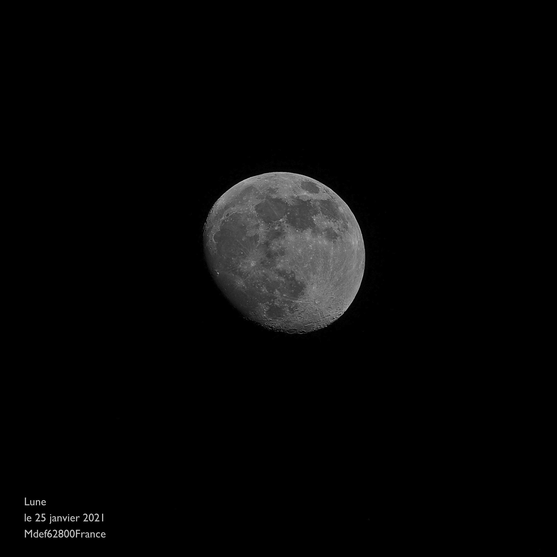 Lune  le 25 janvier 2021