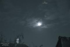 Conjonction  18 fév 2021  Lune - M45 - Mars