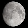 La lune du 24 Février 2021, à Chilly Mazarin, lunette FC 76 Takahashi & Nikon D810 sur trépied photo. 45 poses au 80ème à 500 iso