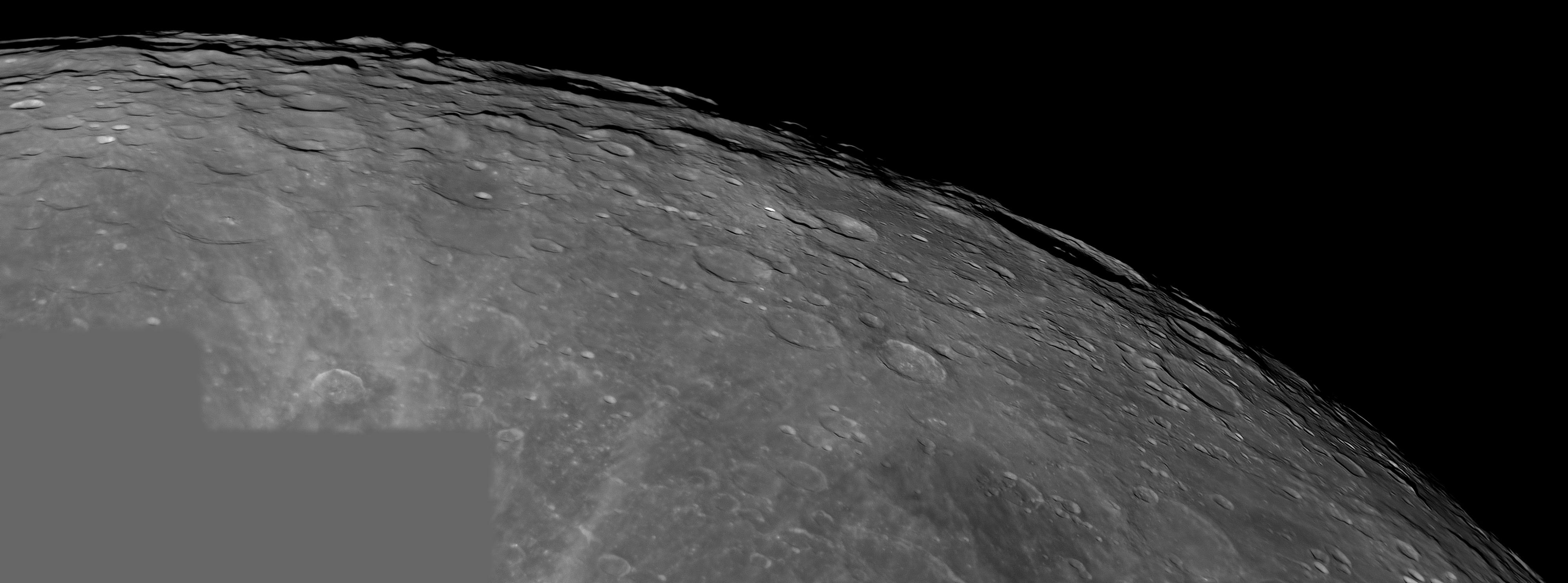 Pôle et région sud  de la Lune