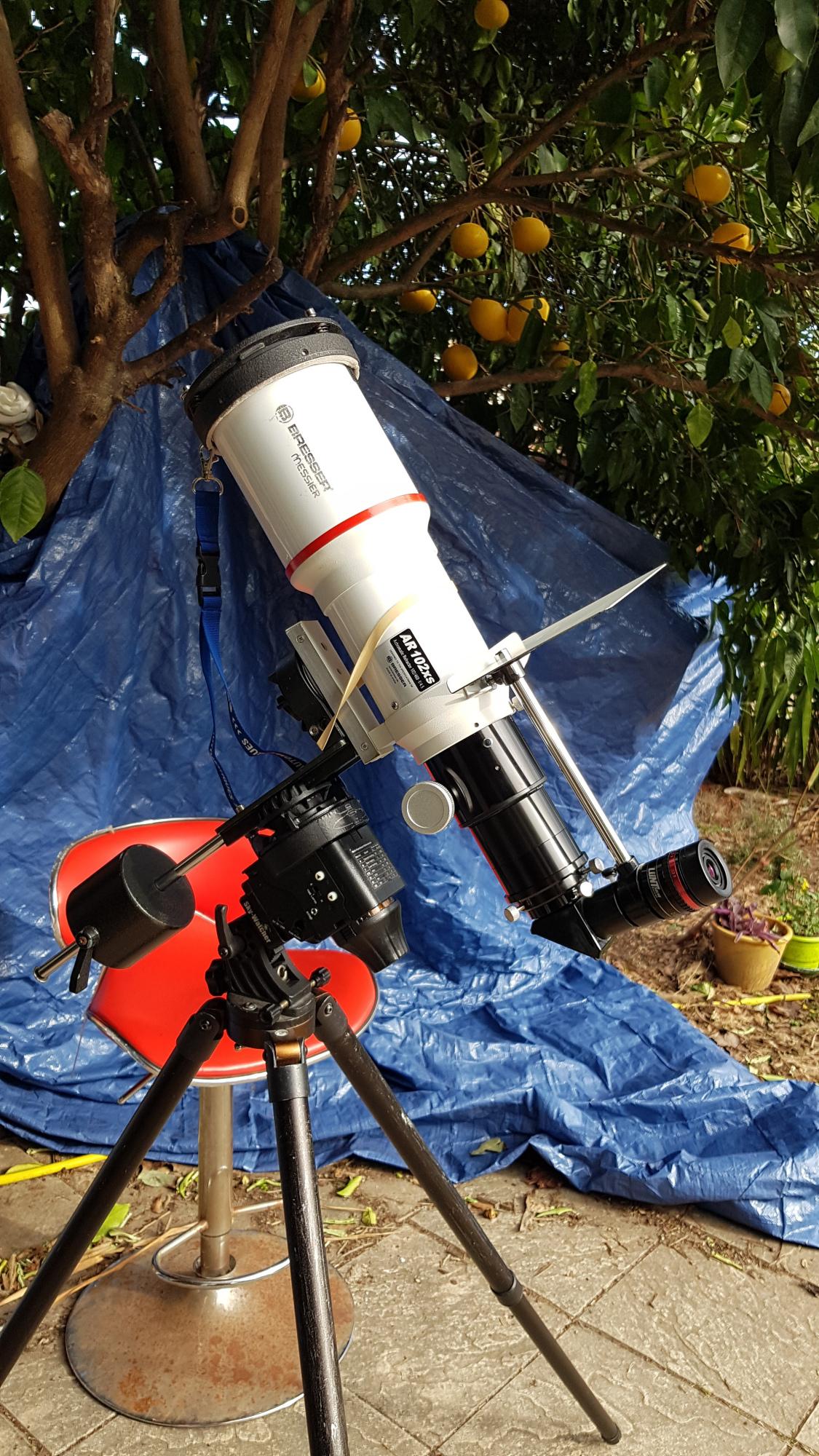 Lunette Bresser modification 80 mm et etalon PST interne .jpg