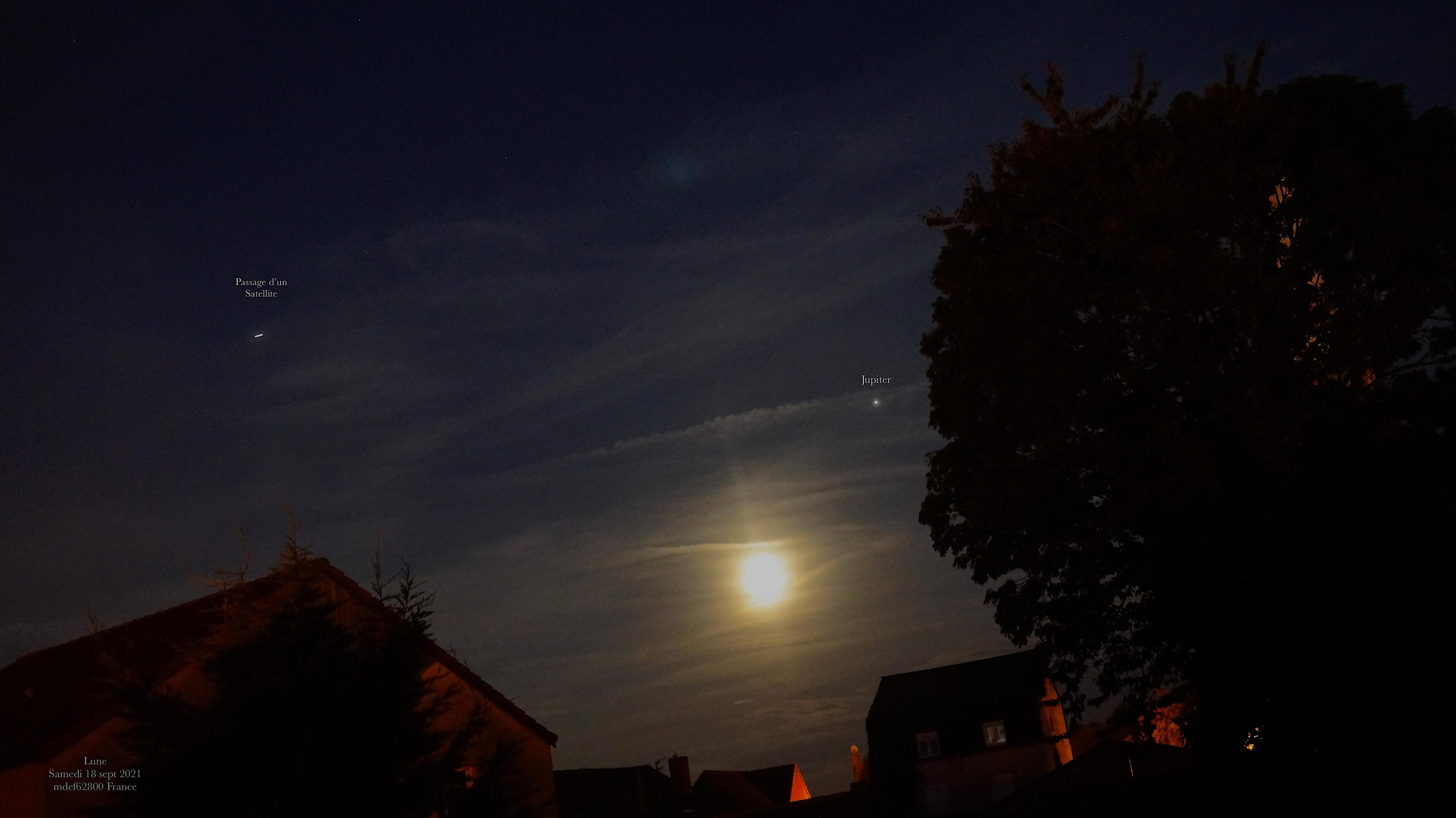 Conjonction Lune .. Jupiter  18 sept 2021