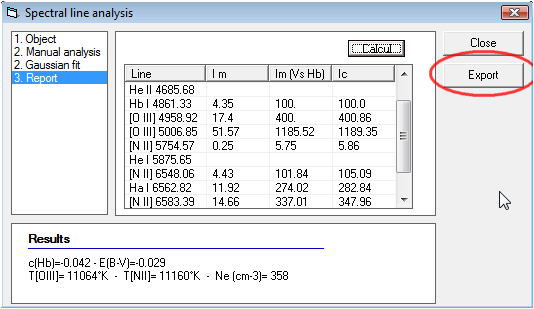 Vspec - Tutorial Line Analysis