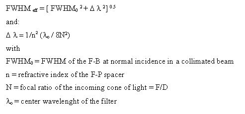 Analysis of F-P Ha filters